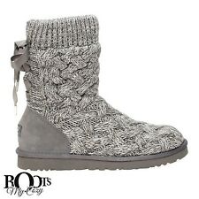 UGG ISLA GRAY KNIT/SUEDE/SHEEPSKIN WOMEN'S BOOTS SIZE US 8/UK 6.5/EU 39 NEW