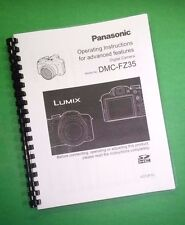 COLOR PRINTED Panasonic Camera Advanced DMC-FZ35 Manual, User Guide 219 Pages