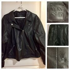 MYNT 1792 Faux leather Moto Jacket - 3X