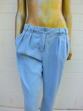 COUNTRY ROAD SOFT DENIM CHAMBRAY LOOK PLEAT LOUNGE SLOUCH HAREM Dress PANTS 10
