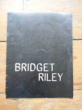BRIDGET RILEY. recent paintings & drawings. catalogue. New York 1975. vasarely