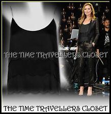 Kate Moss Topshop Black Scallop Trim Camisole Vest Top Blouse UK 8 BNWT RRP £45