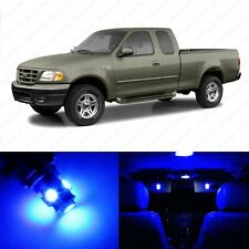 12 x Ultra Blue LED Interior Light Package For 1997 - 2003 Ford F-150 F150