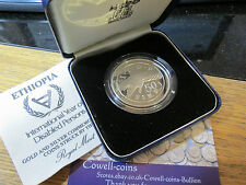 Royal mint 1981 Ethiopia international year disabled silver proof 50 Birr BOX