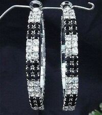 FABULOUS DIAMANTE SWAROVSKI ELEMENT  EARRINGS-GREAT GIFT E43