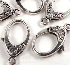 31x17mm X-Large Antique Silver Pewter Lobster Claw Clasps (5) ~ Lead-Free