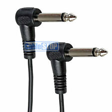 "1m 6.35mm RIGHT ANGLE Mono Jack Male Plug 1/4"" Guitar Amp Cable Audio Patch Lead"