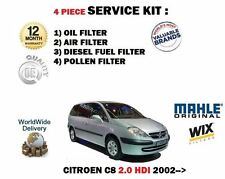 FOR CITROEN C8 2.0 HDi 7/2002-  SERVICE KIT OIL AIR FUEL POLLEN 4 FILTER KIT