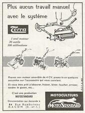 W0795 Motoculteurs MOTOSTANDARD - Pubblicità 1961 - Advertising