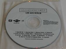 RAMMSTEIN Live Aus Berlin RARE U.S. Advance Promo CD 1999 15 Tracks German Metal