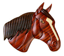 Western Kitchen Decor ~HORSE HEAD~ Wooden Fridge Magnet Handcrafted