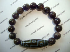 FENG SHUI - 9 EYE DZI WITH 10MM AMETHYST