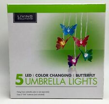 Butterfly 5 LED Umbrella Lights Multi Color Changing by Living Solutions