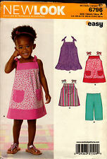 New Look Pattern 6796 Dress size 6 months to 4 Toddlers Girls Child