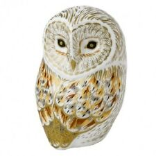 New Royal Crown Derby 2nd Quality Winter Owl Paperweight with Gift Box