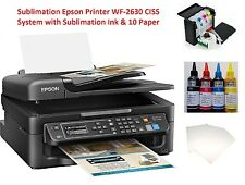 Sublimation Epson Printer WF-2630 CISS System with Sublimation Ink & 10 Paper