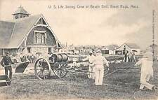 BRANT ROCK, MA, DRILL OF THE  U.S. LIFE SAVING CREW, ROTOGRAPH PUB, used 1909