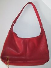 Wilson's Pelle Studio red pebbled leather shoulder bag, hobo, purse, handbag