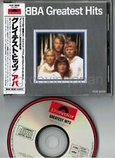 ABBA Greatest Hits JAPAN CD w/OBI(creases)+P/S BOOOKLET P33P-20050 '86 issue VG