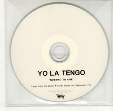 (GO339) Yo La Tengo, Nothing To Hide - 2009 DJ CD