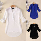 Pretty Trendy Ladies Women Elegant V Neck Chiffon Long Sleeve Top Blouse Shirt