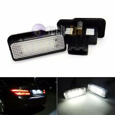 2x Error Free CAN-bus LED License Plate Lights Lamps for Mercedes W211 W219 W203