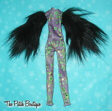 MONSTER HIGH REPLACEMENT GHOULS RULE CLAWDEEN DOLL BODYSUIT UNITARD FUR SLEEVES