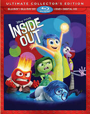 Disney Pixar Inside Out 3D Exclusive Ultimate Collector's Edition  3D Blu Ray +