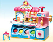 Ice Cream Shop Market Toy Accessories Color Clay Dough Kids Role Play Korean Toy