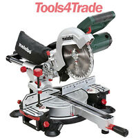 "Metabo KGS216M 216mm 8"" 1500w Laser Slide Compound Mitre Saw 110V"