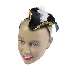 PIRATE HAT MINI ON HEADBAND FANCY DRESS ADULT