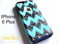 Custom Otterbox Commuter IPhone 6 Plus Case glitter chevron