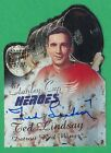 TED LINDSAY ~AUTOGRAPH~ 2000-01 Topps Auto Red Wings