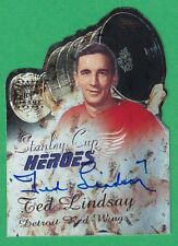 2000-01 Topps Stanley Cup Heroes TED LINDSAY AUTOGRAPH  Red Wings