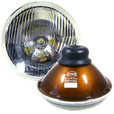 "H6024 Pair 7"" Head Light Housing Round Glass Conversion Lamp - Set"