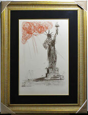 Salvador DALI, Original Etching, New York City Statue of Liberty, Signed #d RARE