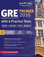 GRE Premier 2016 with 6 Practice Tests: Book + Online + DV...NEW *Free Shipping*
