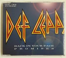 Def Leppard Back In Your Face Promises Cd-Single UK 1999