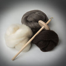 *DROP SPINDLE KIT*Shetland Fleece*LEARN TO SPIN* wool,tops,wheel,roving,spinning