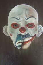 Joker Dark Knight 20x14 oil painting, framing avail. Bane Batman Clown mask