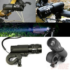 240 Lumen Q5 Cycling Bike Bicycle LED Flashlight Front Head Light Torch w/ Mount