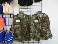 US Military BDU Shirt/Coat -SET OF 2-1 COLD+1 HOT WEATHER-Woodland Camo SMALL-LO