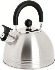 Mr. Coffee Carterton Stainless Steel Whistling Tea Kettle 1.5-Quart
