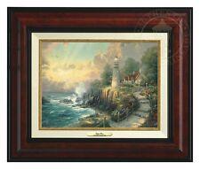 """Thomas Kinkade - Light of Peace – Canvas Classic, 9"""" x 12"""" (Burl Frame)"""