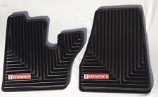 Kenworth OEM Black Rubber Floor Mats w/Red Logo Fits 2005-17 T600 660 W900 C500