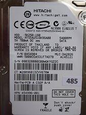 160GB Hitachi HTS542516K9SA00 | P/N: 0A54904 | MLC: DA2026 | MAR-08 #485