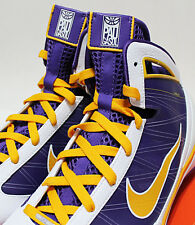 NIB NIKE HYPERIZE SUPREME 2009 PAU GASOL PE 10.5 LA LAKERS HOME GOLD-PURPLE
