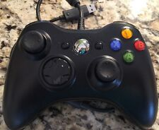 XBOX 360 ☆ OFFICIAL OEM GENUINE BLACK WIRED CONTROLLER GAMEPAD ☆ AWESOME! ��