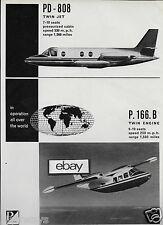 PIAGGIO ITALIA P166B TWIN & PD-808 JET 1963 AD