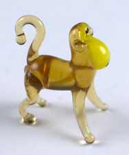 Miniature Lampwork Tiny Hand Blown Glass Monkey Figurine